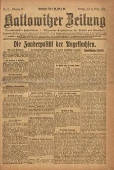 Kattowitzer Zeitung, 1923, Jg. 55, nr49