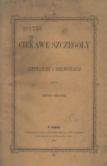 Ciekawe szczegóły z literatury i bibliografij
