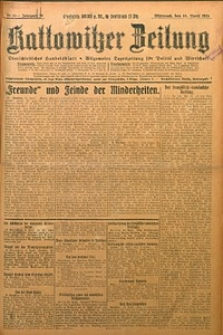 Kattowitzer Zeitung, 1924, Jg. 56, nr89