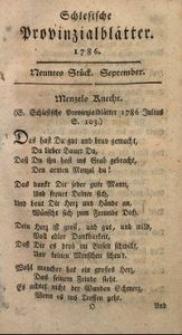 Schlesische Provinzialblätter, 1786, 4. Bd., 9. St.: September