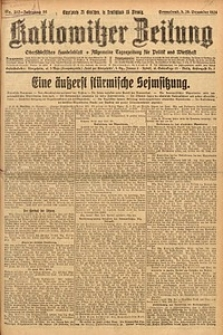 Kattowitzer Zeitung, 1924, Jg. 56, nr292