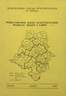 Podstawowe dane statystyczne według miast i gmin za 1994 r.