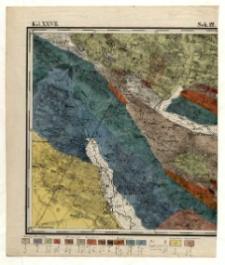 Karta geognostyczna Okręgu Wschodniego Górnictwa Królestwa Polskiego- Kol. XXVII., Sek.12. Arkusz [Chęciny]