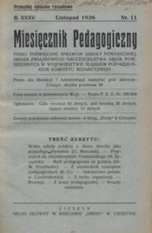 Miesięcznik Pedagogiczny, 1926, R. 35, nr 11