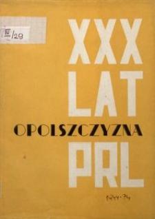 Opolszczyzna w 30-leciu PRL