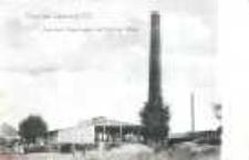 Ludmierzyce. Nowo wybudowana cegielnia parowa Müllera przed 1945 r.