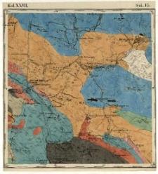 Karta geognostyczna Okręgu Wschodniego Górnictwa Królestwa Polskiego- Kol. XXVII., Sek.13. Arkusz [Daleszyce]