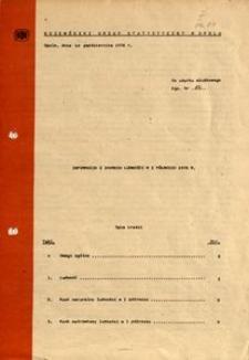 Informacja z zakresu ludności w 1 półroczu 1976 r.
