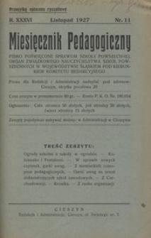 Miesięcznik Pedagogiczny, 1927, R. 36, nr 11