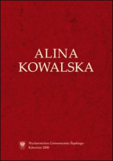 Alina Kowalska (1932-2001)