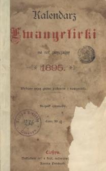 Kalendarz Ewangelicki na Rok Zwyczajny 1895