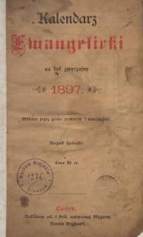 Kalendarz Ewangelicki na Rok Zwyczajny 1897