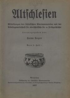 Altschlesien, 1927, Bd. 2, Nr. 1
