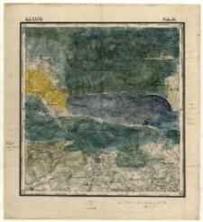 Karta geognostyczna Okręgu Wschodniego Górnictwa Królestwa Polskiego- Kol. XXVII., Sek.15. Arkusz [Iwaniska]