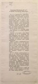 Komunikat Sekretaryatu M. K. P. w sprawie Tymczasowj Rady Stanu