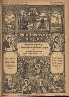 Wiadomości Misyjne, 1937, R. 47, nr 2