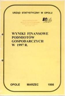 Wyniki finansowe podmiotów gospodarczych w 1997 r.