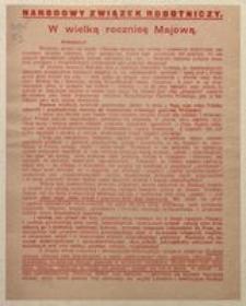 Robotnicy! Warszawa d. 3 Maja 1917 r.