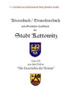 Adress-Buch und Geschäfts-Handbuch der Stadt Kattowitz für das Jahr 1894 : erster Jahrgang