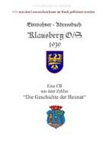 Einwohnerbuch von Klausberg 1939