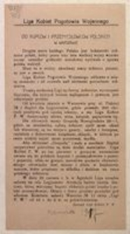 Do Kupców i Przemysłowców Polskich w Warszawie. Zarząd Ligi Kobiet P. W.