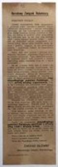 Robotnicy Polscy! Warszawa, październik 1916 r. Narodowy Związek Robotniczy