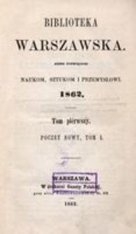 Biblioteka Warszawska, 1862, T. 1
