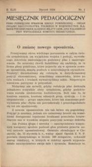 Miesięcznik Pedagogiczny, 1934, R. 43, nr 1