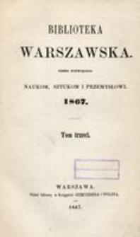 Biblioteka Warszawska, 1867, T. 3
