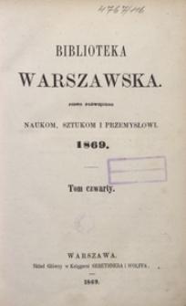 Biblioteka Warszawska, 1869, T. 4