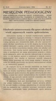 Miesięcznik Pedagogiczny, 1934, R. 43, nr 6/7