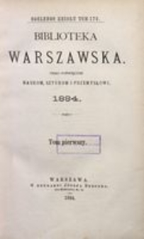 Biblioteka Warszawska, 1884, T. 1