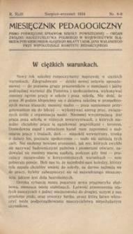 Miesięcznik Pedagogiczny, 1934, R. 43, nr 8/9