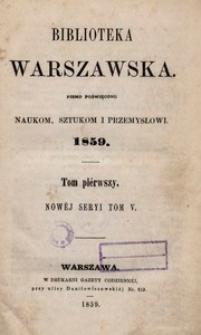 Biblioteka Warszawska, 1859, T. 1