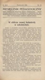 Miesięcznik Pedagogiczny, 1934, R. 43, nr 10