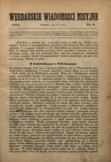 Werdauskie Wiadomości Misyjne, 1874, nr2