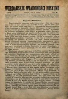 Werdauskie Wiadomości Misyjne, 1874, nr6