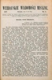 Werdauskie Wiadomości Misyjne, 1877, nr 8