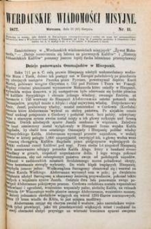 Werdauskie Wiadomości Misyjne, 1877, nr 11