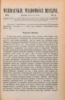Werdauskie Wiadomości Misyjne, 1879, nr 6