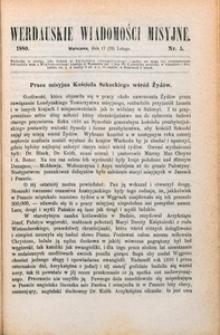 Werdauskie Wiadomości Misyjne, 1880, nr 5