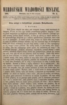 Werdauskie Wiadomości Misyjne, 1881, nr 2