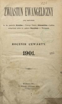 Zwiastun Ewangeliczny, 1901, R. 4, spis rzeczy