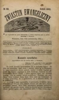 Zwiastun Ewangeliczny, 1903, R. 6, nr10
