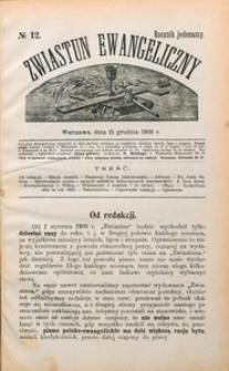 Zwiastun Ewangeliczny, 1908, R. 11, nr12
