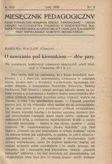Miesięcznik Pedagogiczny, 1933, R. 42, nr 2