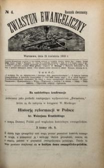 Zwiastun Ewangeliczny, 1909, R. 12, nr4