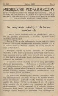 Miesięcznik Pedagogiczny, 1933, R. 42, nr 3