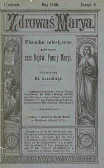 Zdrowaś Marya, 1885/1886, R. 1, nr8