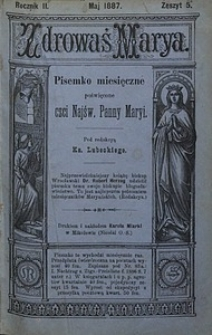 Zdrowaś Marya, 1887, R. 2, nr5